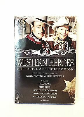 Western Heroes The Ultimate Collection DVD 6 Disc Set John Wayne Roy Rogers NEW.