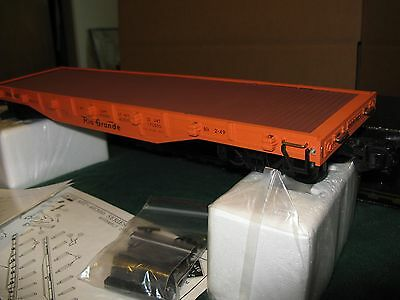 Aristo- Craft     New     Staked  Rio Grande  Flat Car  46309 G-Scale