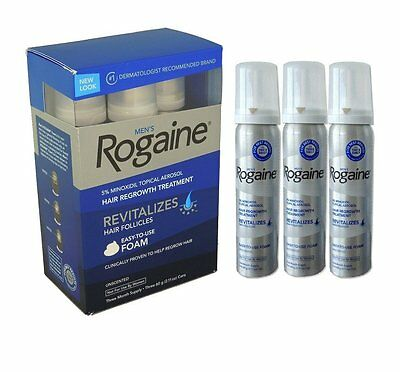 ROGAINE BEST PRICE 3 x Month 5% Minoxidil Mens Regaine Hair Re Growth BRANDED UK