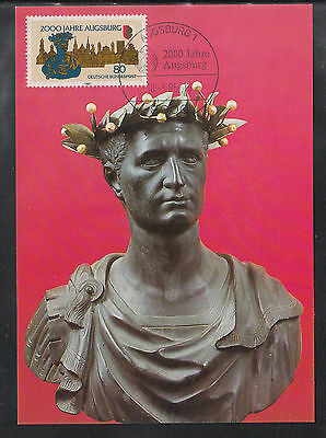 A-70) beautiful Maxi Card MC MK Germany 1984 - Bust of the Emperor Augustus