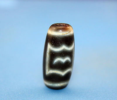 """25*11 mm Antique  Dzi  Agate old  """" bat """"  Bead  from Tibet ***Free shipping***"""
