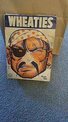 Vintage 1946 Wheaties Cereal Whole Box W/Pirate Pete Mask Cut-Outs Good Shape