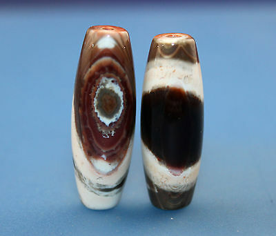 33*12 mm Antique Dzi Agate old  Bead  from Tibet ***Free shipping***