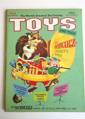 F.A.O. SCHWARZ  HOLIDAY 1968 / 1969 Toy Catalog NM Condition