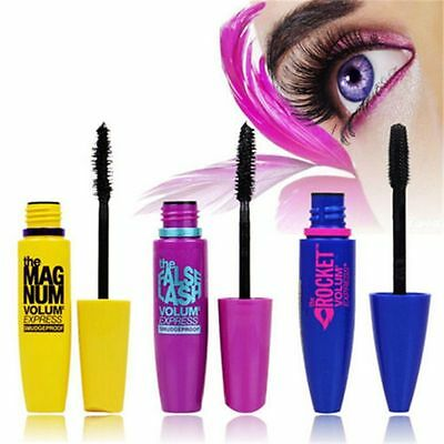 3 Colors Lots Eye Lashes Lady Makeup Cosmetic Waterproof Mascara Beauty