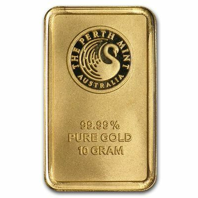 Perth Mint 10 gram (10g) Gold Bullion Bar 99.99% Fine ** GENUINE ** In Case