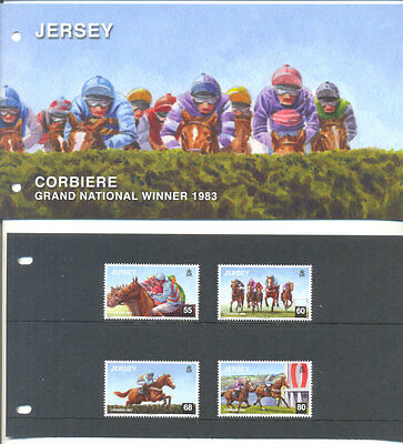 Jersey-Horseracing-Grand National - la Corbiere set & Presentation Pack-Horses