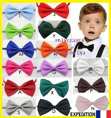 Noeud Papillon Enfant Ceremonie Mariage Bapteme Shield Bow Tie