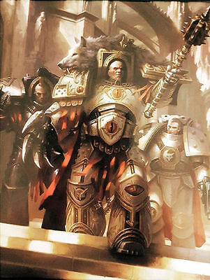 Warhammer 40K Legends Collection Limited Edition Print Horus Lupercal Luna Wolf