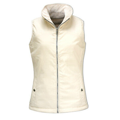 Glenmuir Reversible Quilted Gilet with Flattering Fit in Ivory