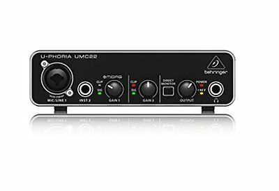 BEHRINGER USB audio interface microphone preamplifier UMC 22 Japan #Trcaking F/S