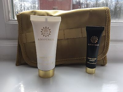 Amouage Hand And Body Lotion 10ml And 30ml In a Pouch