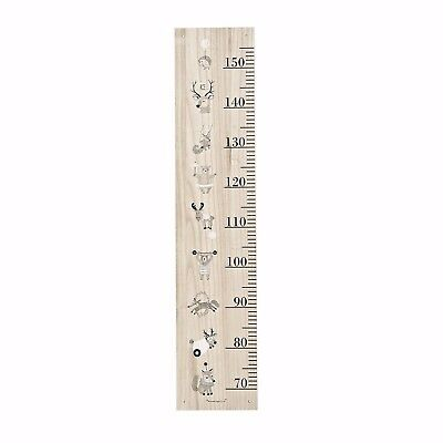Kids Childrens Wooden Wall Mounted Height Measuring Board With Woodland Animals