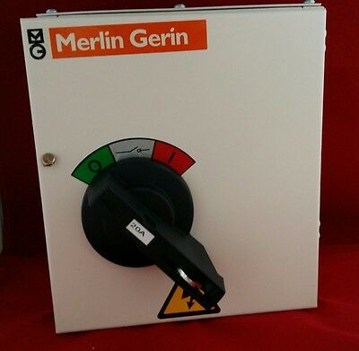 Merlin Gerin Mgfl0203C Triple Pole Three Phase Tp 20Amp Switch Disconnector New