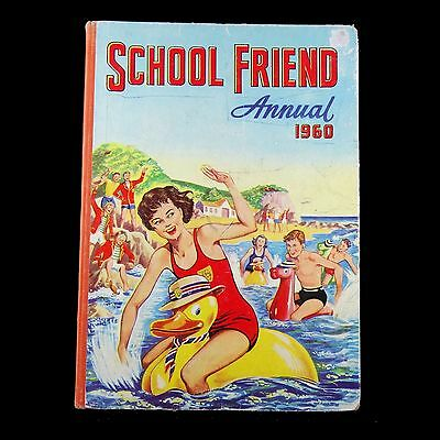 VINTAGE BOOK - SCHOOL FRIEND ANNUAL 1960 issued from The Fleetway House, London