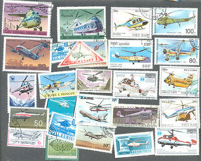 Helicopters 100 all different collection- aviation