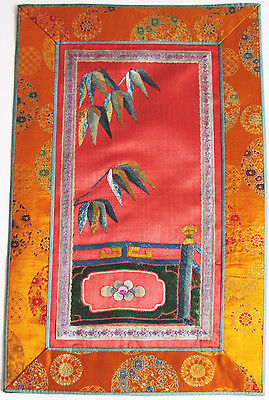Antike chinesische Stickerei Seide  antique chinese silk gold embroidery