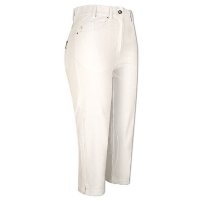 Glenmuir Soft-Stretch Capris with Flattering Fit in White