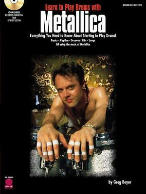 Learn To Play Drums Metallica Book & Cd