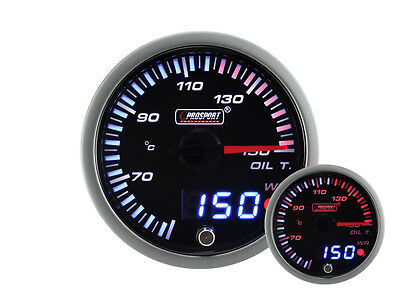 ProSport JDM Premium Oil Temperature Display in °C - Oil Temp Gauge Instrument