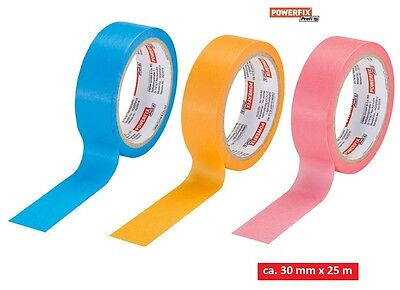 4 x Adhesive tape 30 mm x 25 m Interior / Outdoors precise Color edge Painter