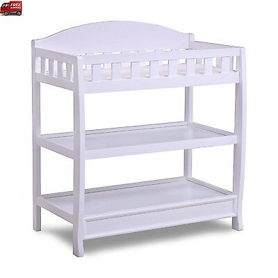 Baby Furniture Changing Table Dresser Travel White Diaper Organizer Day Care