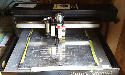 T-Tech Quick Circuit 7000 PCB Milling System, w/ Computer, Software, Spare Parts