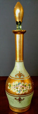 Moser Art Glass Bohemian Green Decanter w/stopper Beautiful, early 20th Century