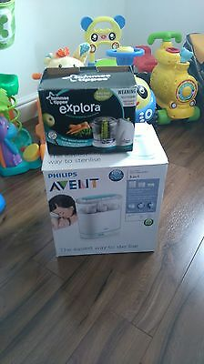 New tommee tippee  baby food blender and used Phillips steryliser bundle