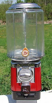 Beaver 25 Cent Gumball Candy Capsule Vending Machine Used Missing Lock and Key