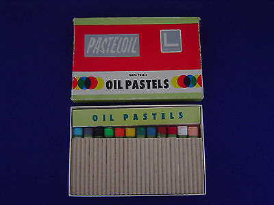 Unused Vintage Pasteloil No.12 Oversize Oil 12 Pastels Set (Holbein?) Japan