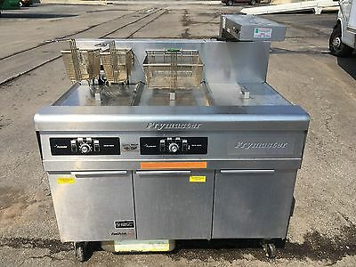 Frymaster Footprint Pro Electric 2 Bay Deep Fryer w/ Dump Station and Filtration