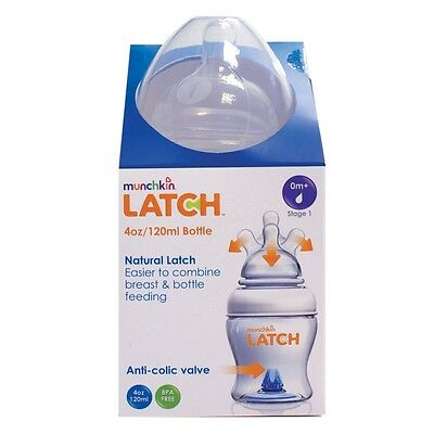 Brand New latch Munchkin 4oz Bottle Baby Bottle Anti Colic