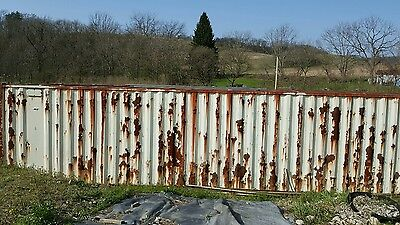 40 ft steel cargo shipping storage container used Pennsylvania