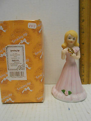 Enesco Growing Up Girls Birthday Blonde Age 9 #E2309  FREE SHIPPING US in box
