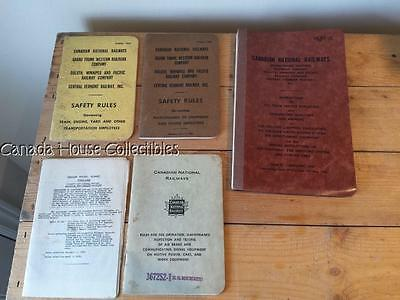 1950's Canadian National Railways CNR Employee Books
