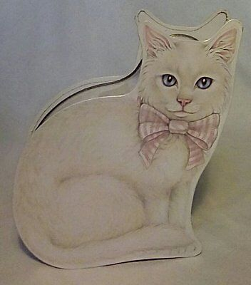 White Cat Shaped Tin