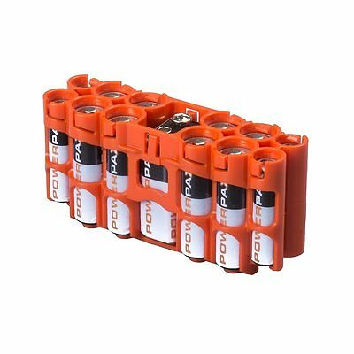 Storacell by Powerpax A9 Multi-Pack Battery Caddy, Orange