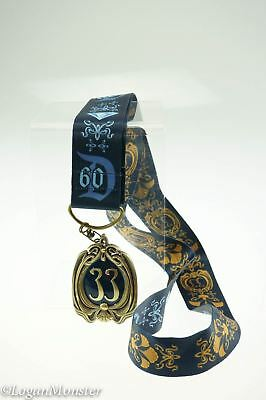 Disneyland 60th Anniversary Club 33 Lanyard and Medallion Disney