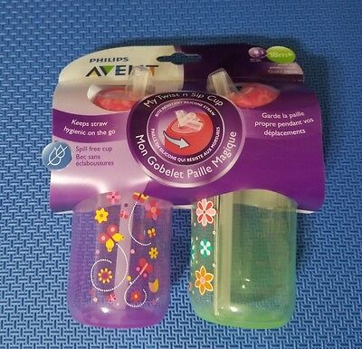 Philips Avent My Twist n Sip Straw Cup 12 Ounce Stage 3 (18M +)  New