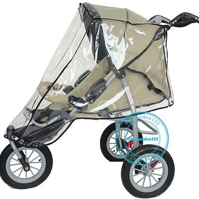 Umbrella Stroller Clear Waterproof Rain Cover WindShield Fit Most Baby Pushchair