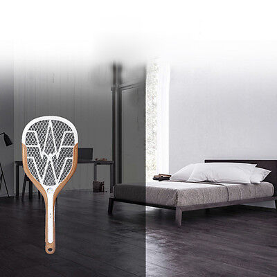 Electronic Fly Swatter Killer Handheld Zapper Detachable LED Flash Rechargeable