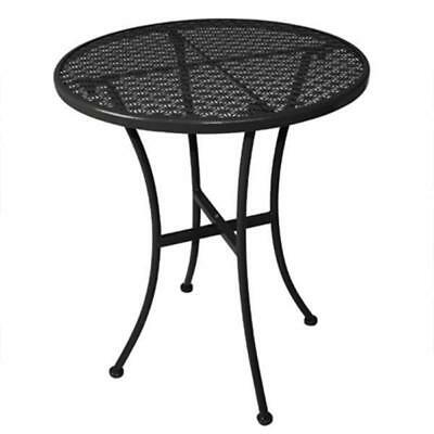 Cafe Table 700mm Round Black Steel Outdoor Restaurant Bistro Furniture Tables