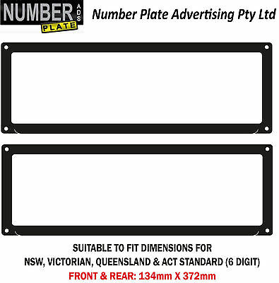 Number Plate Cover 6 Digit Screw On - No lines(NSW,QLD,VIC,ACT,WA,SA)