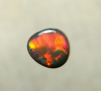 Australian Opal, Lightning Ridge Black Opal Solid Polished Natural Gemstone 8159