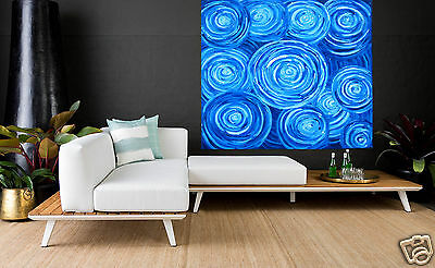 """Huge authentic Art Painting dreampools by jane crawford 39"""" COA aboriginal"""