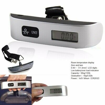 New 50Kg Digital Travel Portable Handheld Luggage Weighing Scales Suitcase Bag