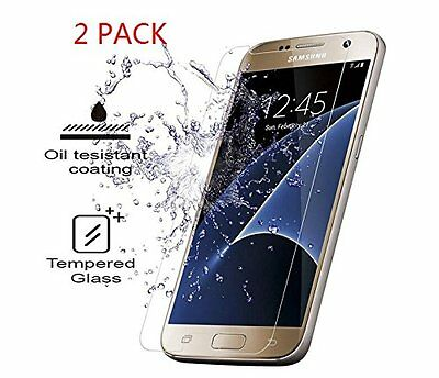 2X 9H Premium Tempered Glass Film Screen Protector Cover For Samsung Galaxy S7
