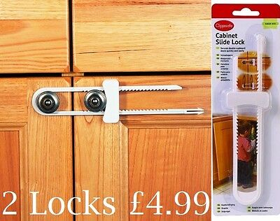Clippasafe SLIDING CUPBOARD/CABINET LOCK Baby/Child Safety Proofing