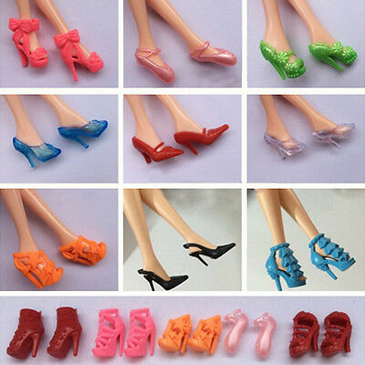 12 Pairs High Heels Shoes Sandals For Barbie Doll Clothes Accesories Xmas Gift
